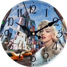 3 Patterns Modern Clocks Scenery Figure Design Silent Home Kitchen Watches decor Vintage Large Size Wall No Ticking