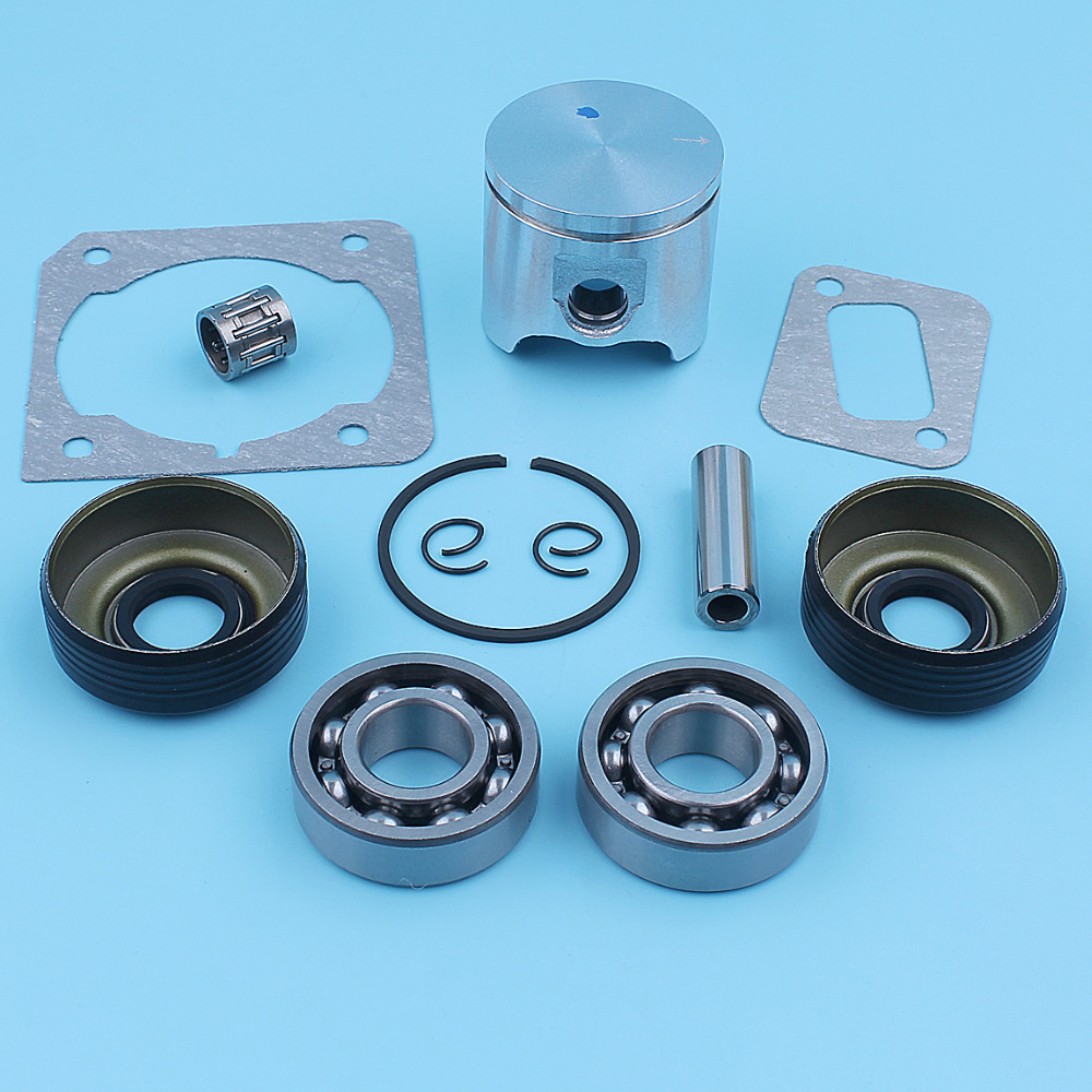 Image 2 - 40mm Piston Crank Ball Bearing Oil Seal Kit For Husqvarna 340 345 Jonsered 2141 2145 Chainsaw Ring Needle Cage Spare PartChainsaws   -