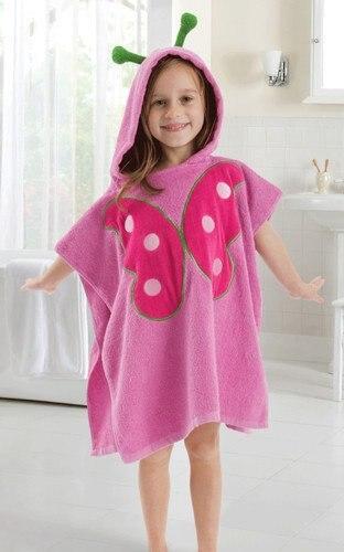 5 видов конструкций детский халат с капюшоном/детское полотенце/модель ing полотенца с фигурками животных/детский банный халат/детское банное полотенце - Цвет: butterfly