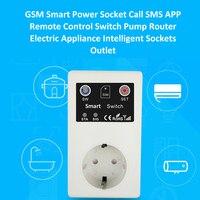 Aletler'ten Cihaz Parçaları ve Aksesuarları'de 16A GSM Priz kumandalı Anahtarı Sıcaklık Sensörü Akıllı Ev Röle Kontrol SMS App Garaj Kapısı Kapısı Açacağı