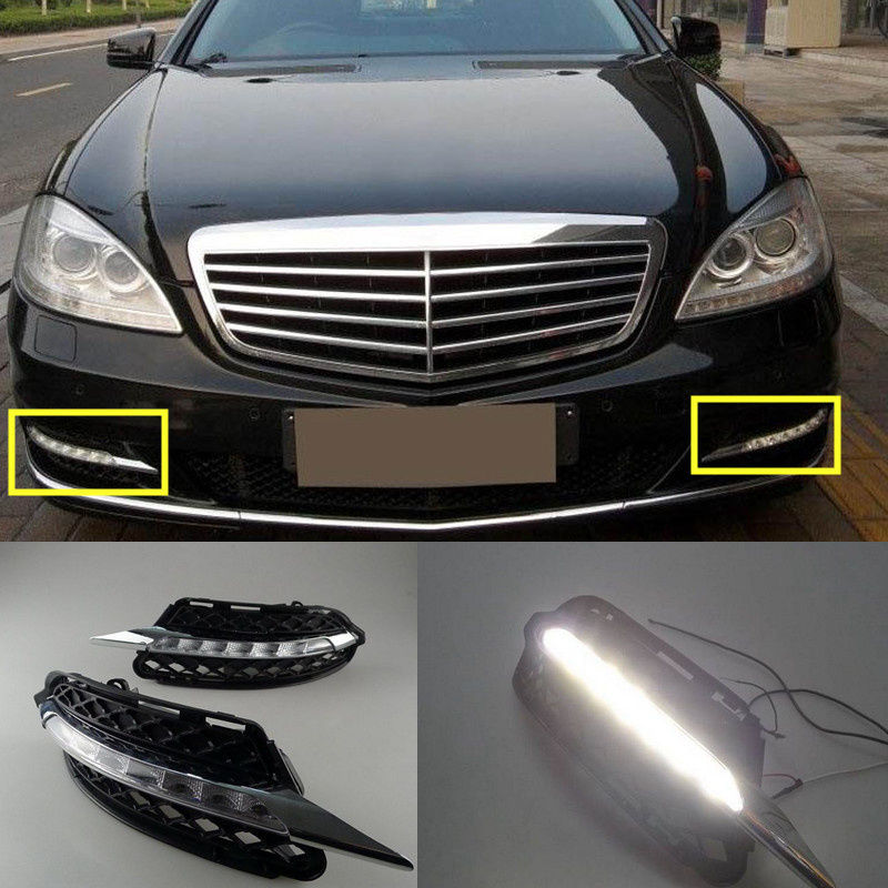 12V Car DRL Kit For Mercedes-Benz S-Class W221 S300 S500 S350 S600 2009 2010 2011 2012 LED Daytime Running Lights Fog Lamp norm longley tim burford james stewart the rough guide to wales