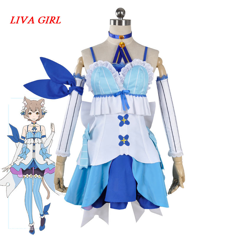 Lovely Anime Cosplay Anime Re:Life in a different world from zero Felix Argyle Cosplay Costume cat dress outfit with tail