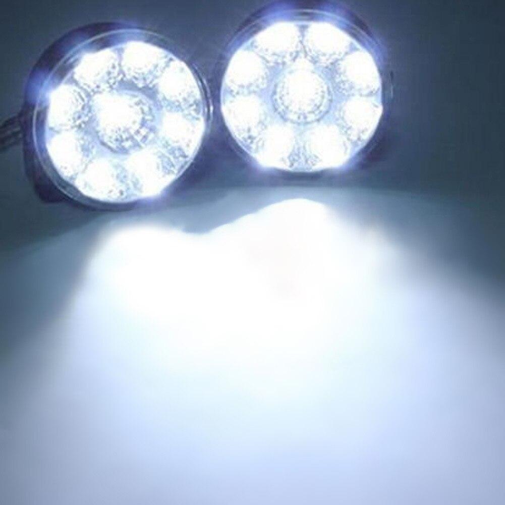 VODOOL 2шт 9-светодиодные 12 В 4.5 Вт авто туман Лампа круглый вождения запущен дневной свет супер яркий головного света Автомобильные аксессуары
