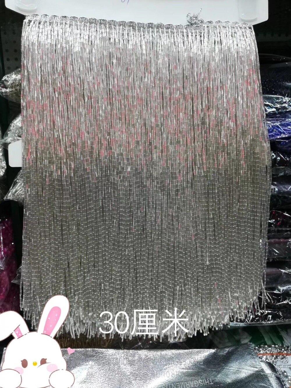 Coupe à franges perlées de 30 cm de large, 5.5 yard, environ 270 fils de perles/ruban de cour-in Décoration from Maison & Animalerie    1