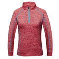 HUCOINHOW Women's Autumn Tennis Sport Shirts Lady Outdoor Stand Collar Full Sleeve Hiking T-shirts Women Badminton Clothes M-4XL