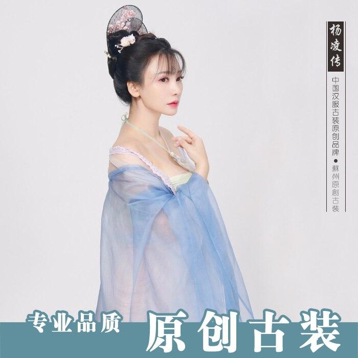 Женский костюм на бретельках Hanfu, сексуальный костюм, древняя китайская принцесса, драконы, сказочные костюмы, качественная шифоновая хлопк... - 5