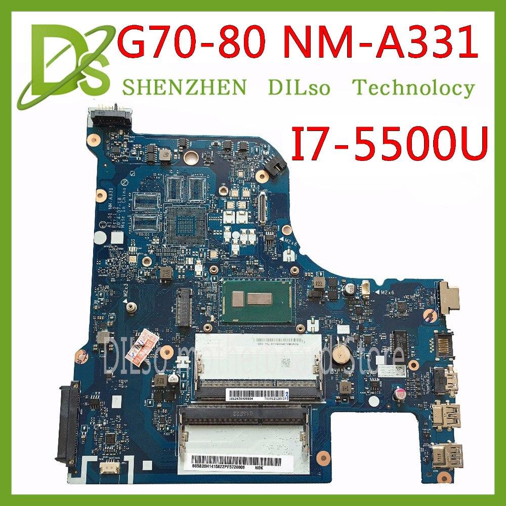 KEFU NM-A331 G70-80 Motherboard For Lenovo G70-80 B70-80 Z70-80 Motherboard AILG NM-A331 I7-5500U CPU Test 100% Work Original