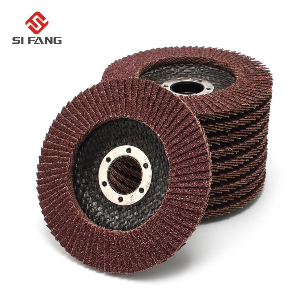 10Pcs 4''x5/8''Inch Abrasive Flap Sanding Disc Polishing Wheel Grinding Grit 60