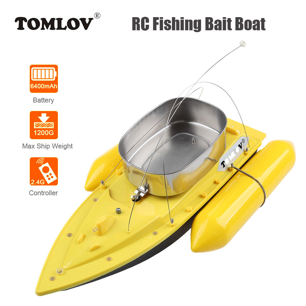 TOMLOV T10W 1200G Electric RC Fishing Bait Boat Lure Carp Hook Wireless Boat 300M Remote Control Ship For Fish Finder boat nisi 77mm pro uv ultra violet professional lens filter protector for nikon canon sony olympus camera