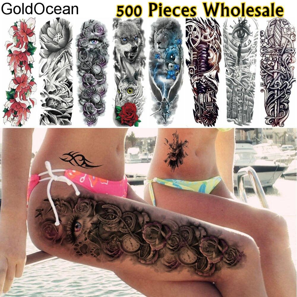 Henna Eye Tattoo: GoldOcean 500 Pieces Wholesale Full Arm Temporary Tattoo