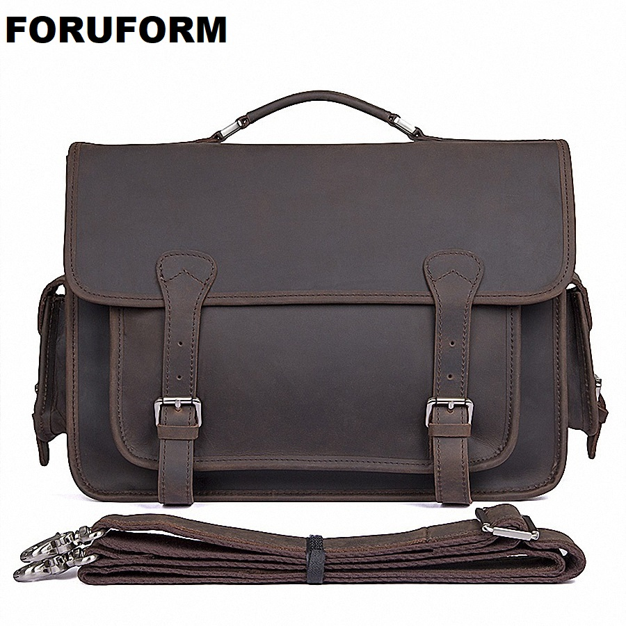 цены Genuine Leather Bag Casual Men Handbags Cowhide Men Crossbody Bag Men's Travel Bags 14 Inch Laptop Briefcase Bag For Man LI-1972