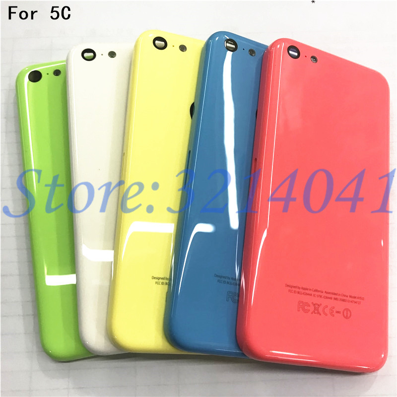 Original For Apple iPhone 5C Back Battery Cover Rear Door Housing Case Middle Chassis +Sim Tray For iPhone 5C Back housing
