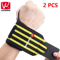 CAMEWIN Brand 2 PCS Weight Lifting Sports Wristband Gym Fitness Wrist Support Straps Wraps Bandage Training