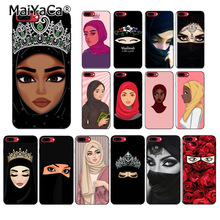MaiYaCa Muslim Islamic Gril Eyes Woman In Hijab Face Painted Phone Case for iPhone 6S 7plus 8Plus X Xs MAX 5S XR 11pro max cover
