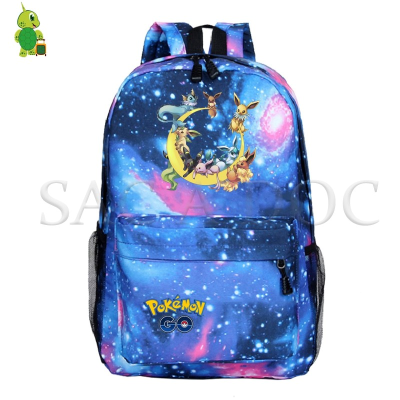 Pokemon Mochila Backpack Women Men Pikachu Eevee Backpack Galaxy Space School Bags for Teenagers Casual Travel Laptop BackpackPokemon Mochila Backpack Women Men Pikachu Eevee Backpack Galaxy Space School Bags for Teenagers Casual Travel Laptop Backpack