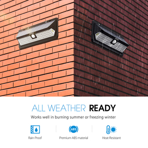 Image 5 - Mpow CD124 80 LED Solar Light 120 Degree Sensing Angle Outdoor Light 3 Adjustable Lighting Time For Garden Driveway Yard Garage