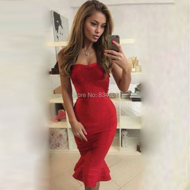 Red Satin Short Mermaid Cocktail Dresses Sexy Sheath Sweetheart Knee Length Party Gowns 2017 Fashion Robe de Cocktail