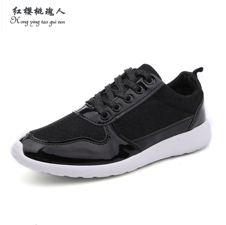 Women shoes 2016 New Fashion Brand shoes for women Casual shoes flat gold black white shoes plus size