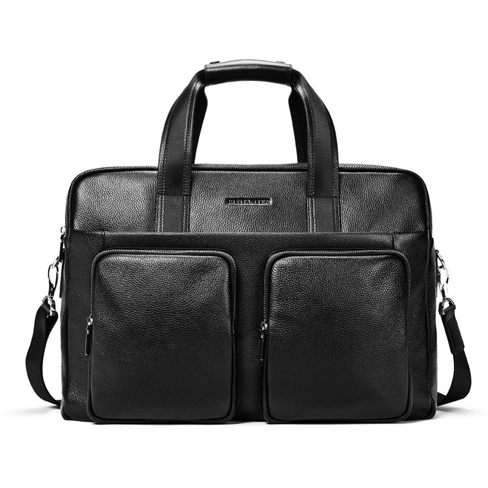 купить BOSTANTEN Cow Genuine Leather Business Briefcases Men bags 17 Laptop Handbag for Men Tote Crossbody bags Shoulder Men's Bag онлайн
