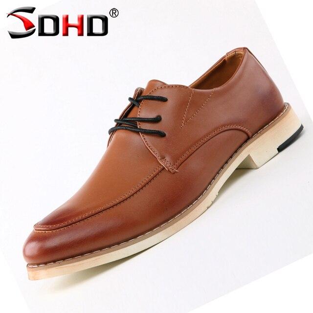 529d8d303543d Fashion Italian Designer Formal Mens Dress Leather Shoes Brown Luxury  Wedding Shoes Men Flats Shoe Office for Male