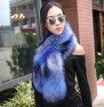 Осенью и зимой мужчин и женщин искусственного фокс енота кролика меховой шарф из искусственного меха мыс воротник зиму сгущает шарф 120 см