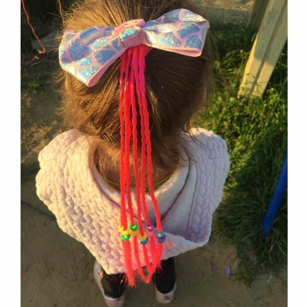 Xugar аксессуары для волос ленты-бантики для волос для девочек Русалка бант скручивание для волос галстук дети красочные Длинное украшение для волос
