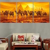 3 PCS/SET DIY 5d square Diamond Painting cross stitch Egypt Pyramids Camel,full diamond Embroidery Mosaic stickers home decor