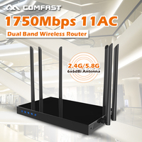2 4GHz 5GHz Smart Dual Band 1750Mbps Gigabit Wifi Router AC 5Ghz Wireless Router A802 11ac