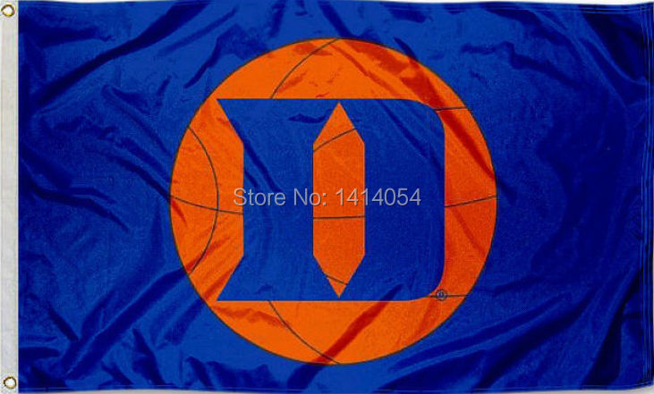 Duke University Basketball Flag 150X90CM NCAA 3X5FT Banner 100D Polyester grommets custom009, free shipping