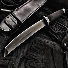 Высокая твердость фиксированным лезвием тактический нож открытый Танто охотничий нож s выживания передач Прямые ножи боевой Катана кемпинг инструменты