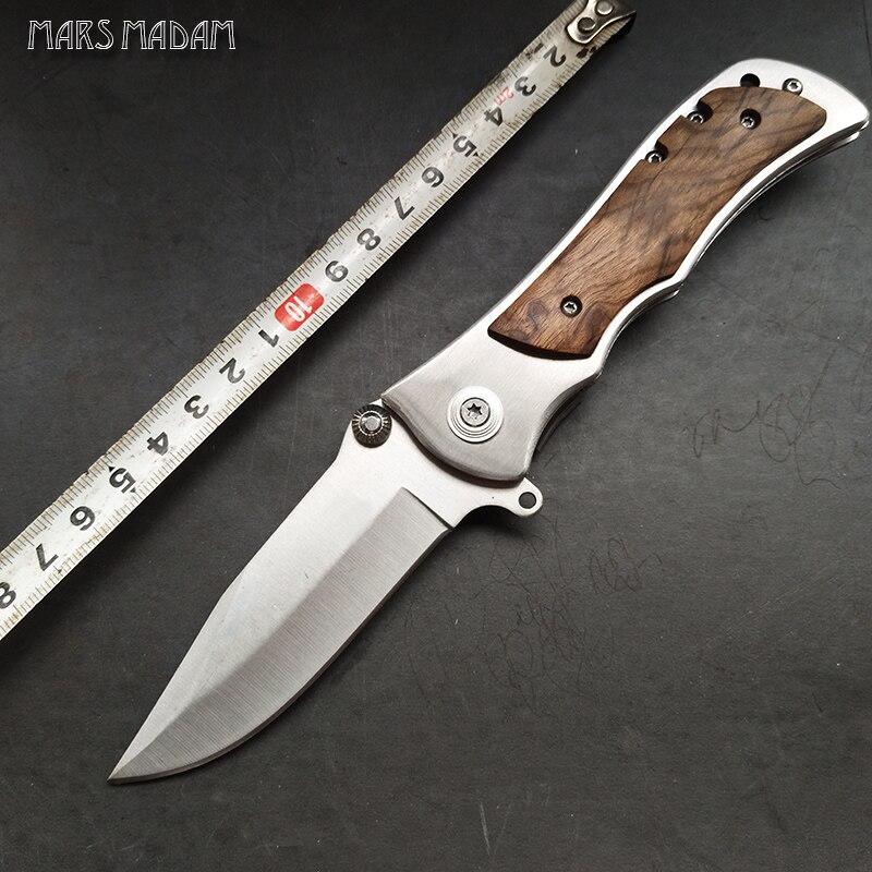 El cuchillo plegable afilado Herramienta para acampar al aire libre Cuchillo de supervivencia al aire libre autodefensa Cuchillo de regalo exquisito