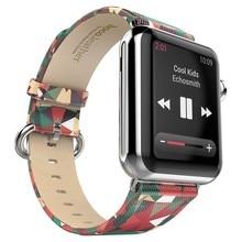 Hoco de lujo super star series figura correa de cuero para apple watch con adaptador para apple watch 38mm 42mm de acero inoxidable