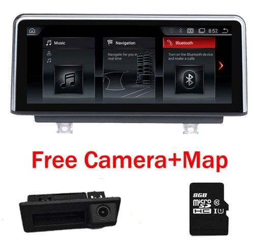10,25 4 ядра Android 7,1 dvd плеер автомобиля для серии BMW 3 F30 F31 Bluetooth gps навигации wi fi 3g SD радио свободная Камера карта