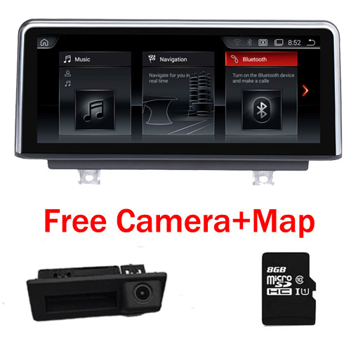 10.25 Quad Core Android 7.1 Car DVD player For BMW Series 3 F30 F31 Bluetooth gps navigation Wifi 3G SD Radio Free Camera Map
