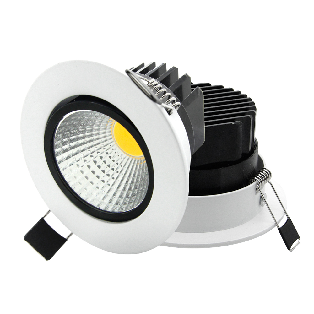 buy super bright recessed led cob downlight dimmable 5w 7w 9w 12w led spot. Black Bedroom Furniture Sets. Home Design Ideas