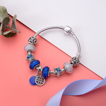 New DIY Creative Bracelet  Beads Chain Bangles Hollow Fashion Woman Bracelets 2019 Friendship Zinc Alloy Jewelry
