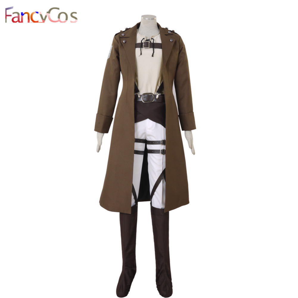 Halloween Attack on Titan  Shingeki no Kyojin Eren Jaeger Survey Corps leather Cosplay Costume Game Japanese