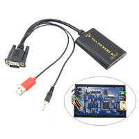 Projector 1080P USB VGA To HDMI Output HD Audio Video Cable Converter For PC Laptop DVD