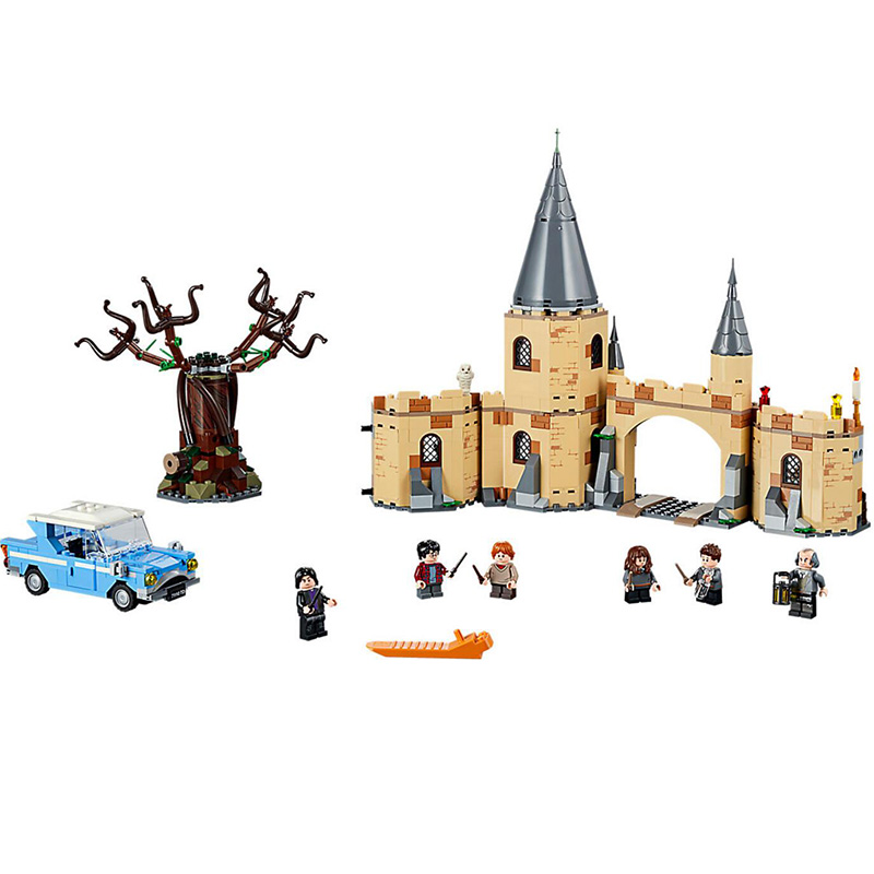 2018 New Movie Harri Potter Series Hogwarts Whomping Willow Building Blocks Toys Compatible With Legoings 75953