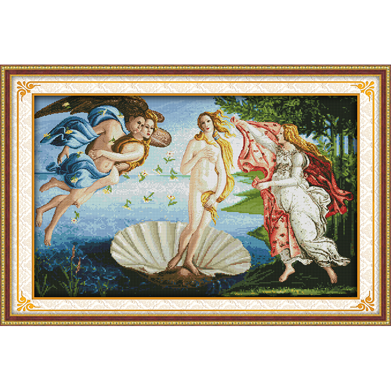 The Birth of Venus cross stitch kits relifion religious DMC 14CT 11CT cotton fabric living room painting Counted Cross stich-in Package from Home & Garden    1