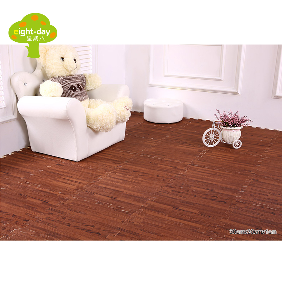 Wood grain mats pe foam mats home flooring tiles wood interlock wood grain mats pe foam mats home flooring tiles wood interlock floor tile living room flooring mat 9 pieces 30x30cm in play mats from toys hobbies on dailygadgetfo Gallery