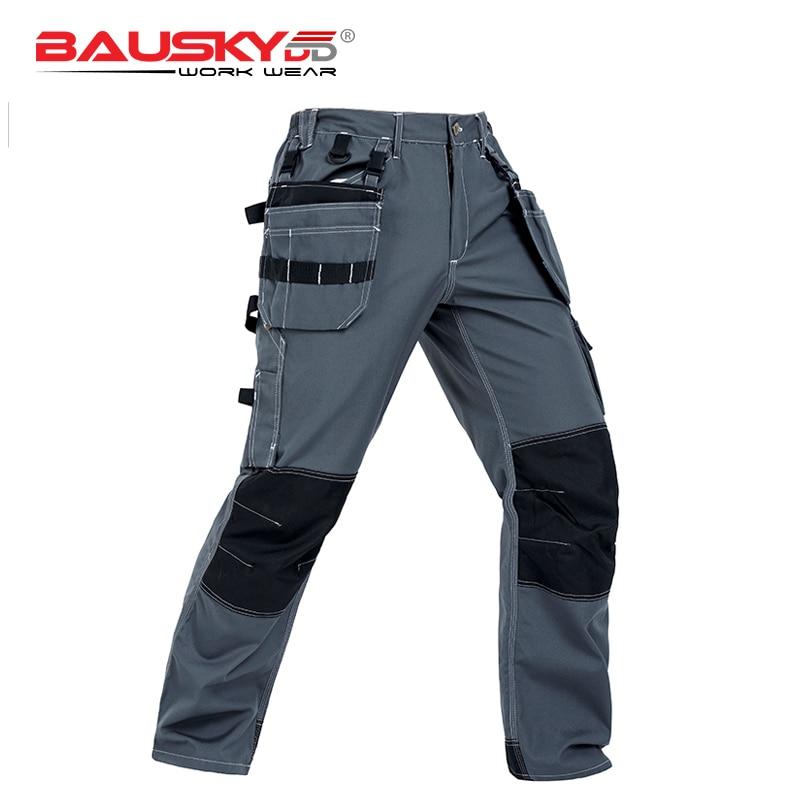 العمل الملابس البضائع السراويل الرجال سراويل عمال مع متعددة جيب ملابس العمل كامل حجم XXS 4XL شحن مجاني B128-في السراويل بجيوب جانبية من ملابس الرجال على  مجموعة 1