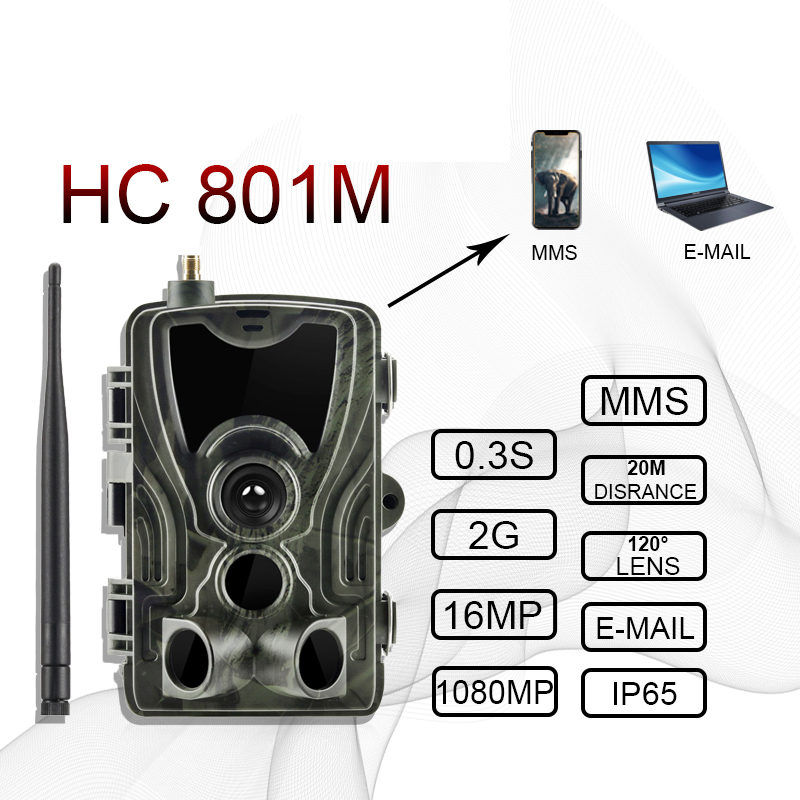 Newest MMS HC801M 2g hunting Trail Camera Wildlife 4g photo traps HC801LTE 16MP 0 3S Trigger