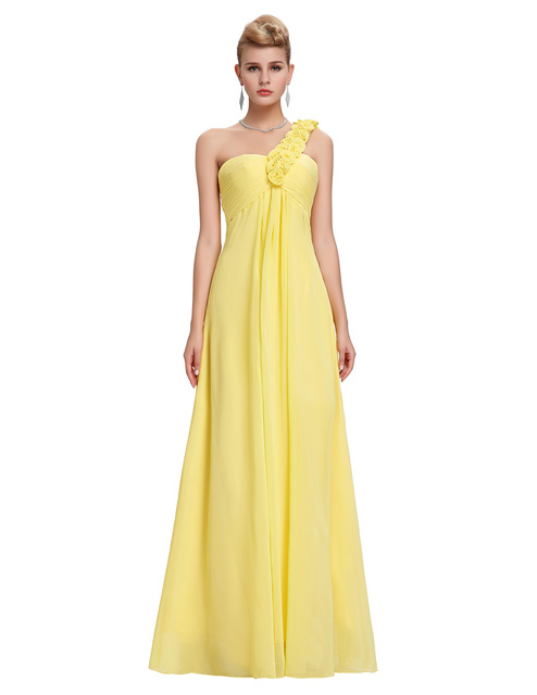 Yellow Plus Size Evening Dress