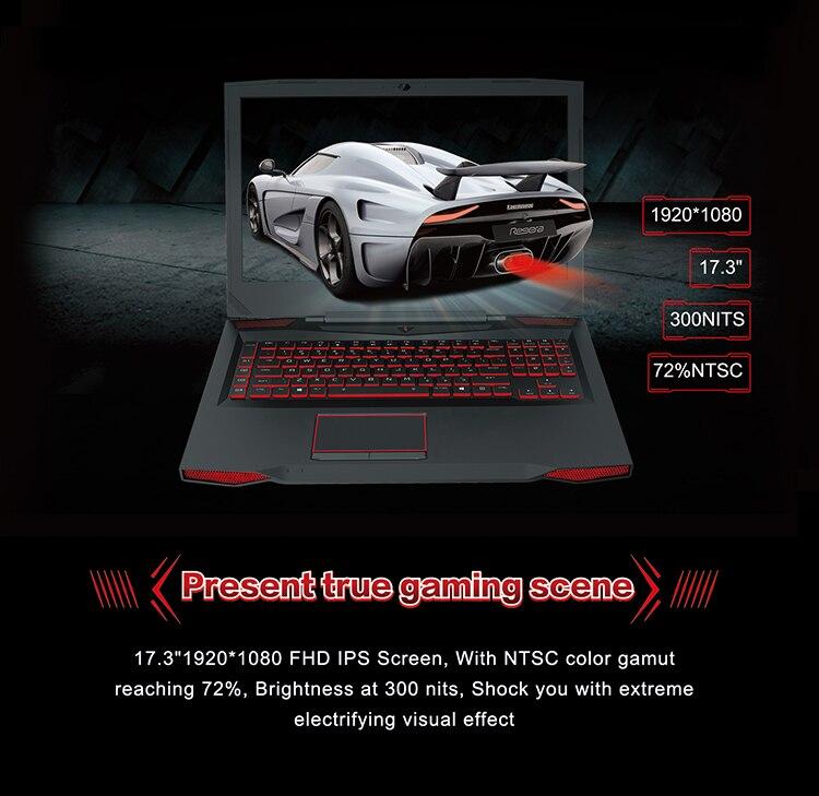 BBEN Ноутбук игровой компьютер Intel i7 7700HQ Kabylake NVIDIA GTX1060 Windows 10 DDR4 8 Гб ram RGB механическая клавиатура WiFi BT4.0