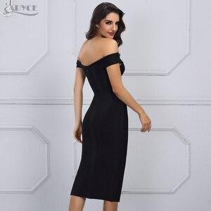 Image 4 - Adyce 2020 nuevo vestido blanco del vendaje del verano mujeres Vestidos negro atractivo del hombro Bodycon Club vestido de celebridad vestido de fiesta de la pasarela