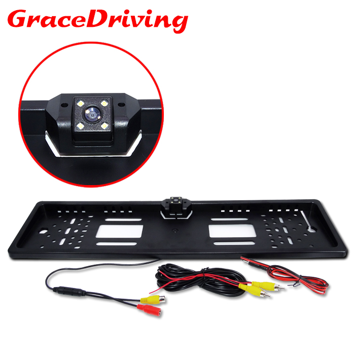 New Arrival European Universal Car License Plate Frame Camera Auto Reverse Rear View