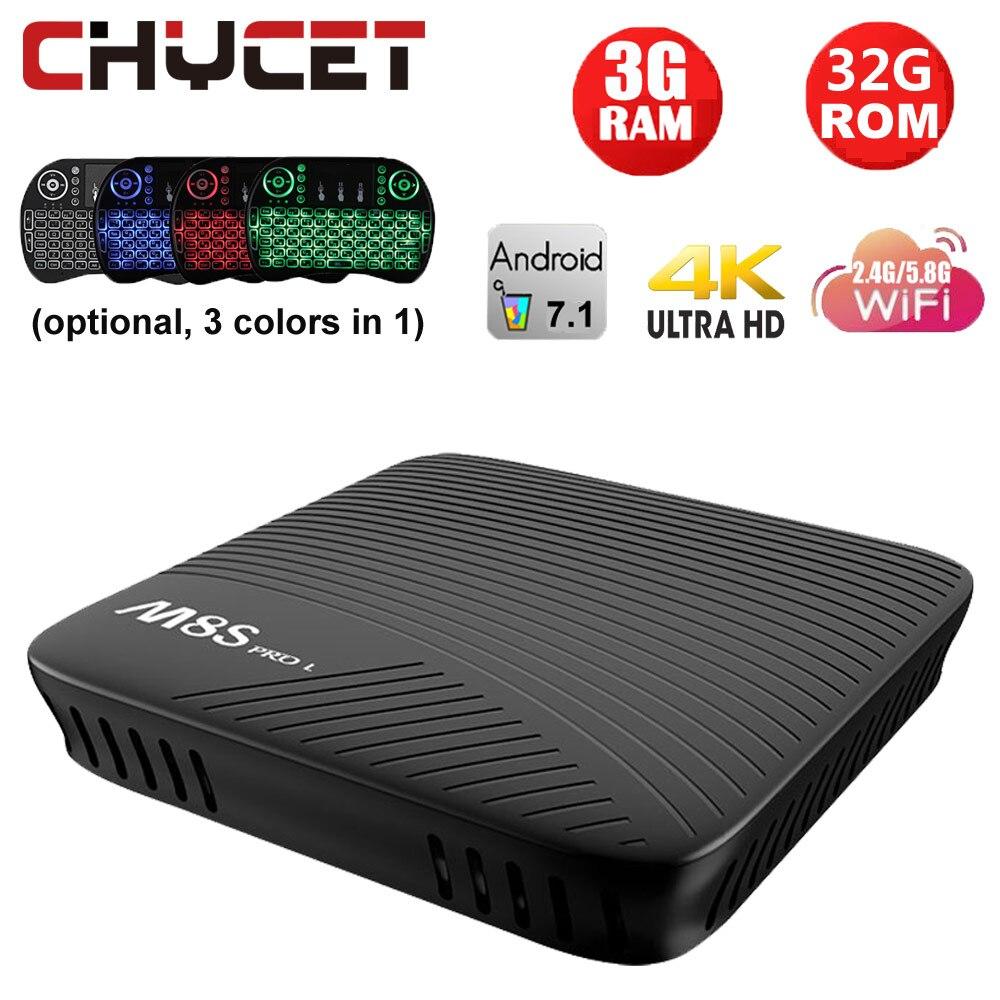 MECOOL M8S PRO L Smart Android 7.1 TV Box S912 Octa-core 3GB / 16GB UHD 4K Mini PC WiFi LAN Airplay Miracast HD Media Player