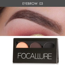 FOCALLURE 3 Colors Eyebrow Prowder Makeup Set Waterproof   Eye Brow Powder Palette For Women Make up