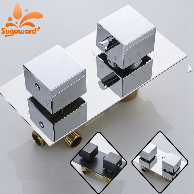 Thermostatic Valve Spool Copper Faucet Cartridge Bath: Shower Set Replace Mixer Valve Thermostatic Control 3 Ways
